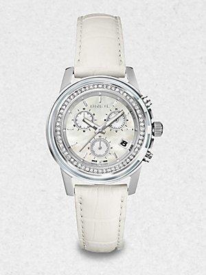 Breil Milano Watch , Women 'sクロノグラフOrchestraホワイトクロコレザーストラップ37 mm tw1190