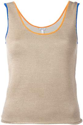 Loewe contrast trim knitted vest