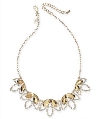 """INC International Concepts I.N.C. Gold-Tone Stone & Pavé Statement Necklace, 18"""" + 3"""" extender, Created for Macy's"""