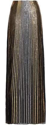 Balmain (バルマン) - Balmain 刺繍入り シルク マキシスカート