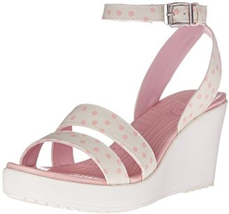 crocs Women's Leigh Graphic Wedge $25 thestylecure.com