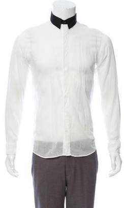 Dries Van Noten Sheer Button-Up Shirt