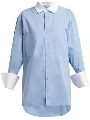 Palmer Harding Palmer//Harding Palmer//harding - Boyfriend Pinstriped Cotton Poplin - Womens - Blue