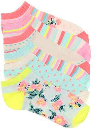 Mix No. 6 Striped Floral No Show Socks - 6 Pack - Women's