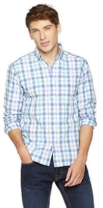 Clifton Heritage Men's Slim Fit Dress Shirt Long-Sleeve Button-Down Casual Gingham Seersucker Shirt