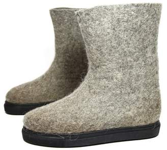 "Women's Organic Wool Snow Boots ""Natural"""