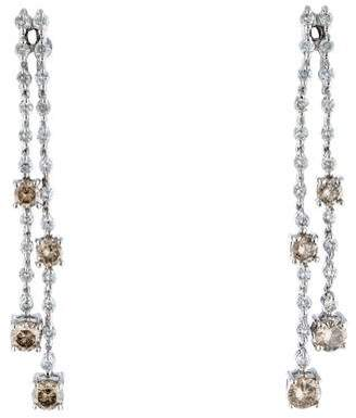 14K Diamond Double Strand Earrings