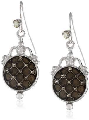 "Black Diamond Signature 1928 ""Signature Marcasite"" Silver-Tone Drop Earrings"
