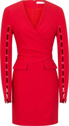 Jonathan Simkhai Compact Stretch Wool Wrap Dress