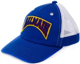 Balmain logo patch cap