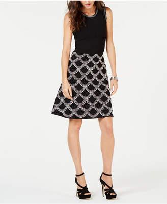 Michael Kors Embellished Fit & Flare Dress