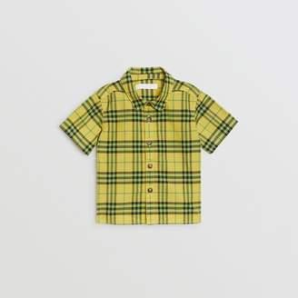 Burberry Childrens Short-sleeve Check Cotton Shirt