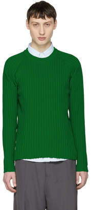 Ami Alexandre Mattiussi Green Knit Crewneck Sweater