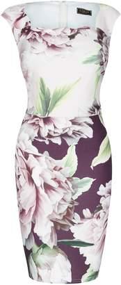 Next Lipsy Amelie Print 2 Tone Bodycon Dress - 6 0ec4954ab