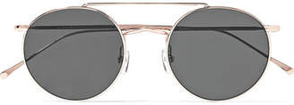 Illesteva Allen M Round-frame Rose Gold-tone Sunglasses - one size