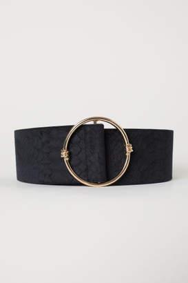 H&M Velvet-covered Waist Belt - Black