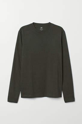 H&M Long-sleeved Shirt Regular fit - Green