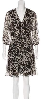 Diane von Furstenberg Silk Wrap Mini Dress