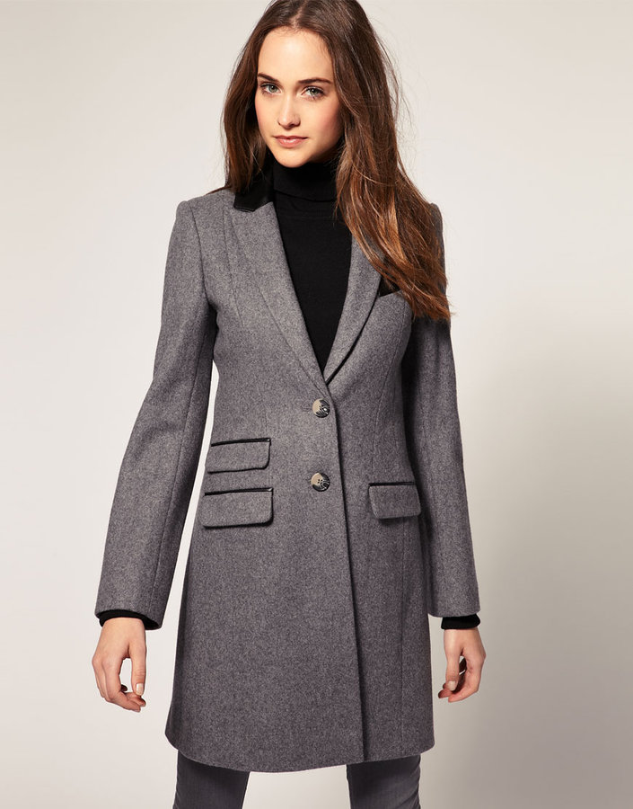 Warehouse Contrast Collar Coat