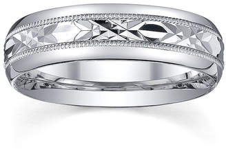 JCPenney MODERN BRIDE Personalized Mens 6mm Comfort Fit Sterling Silver Wedding Band