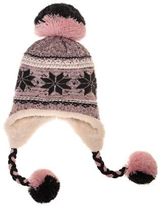 81670668d95 Dosoni Women Girl Winter Hats Knit Soft Warm Earflap Hood Cozy Large  Snowflake Beani