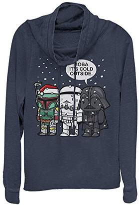 Star Wars Junior's Boba Baby It's Cold Outside Holiday Cowl Neck Sweater