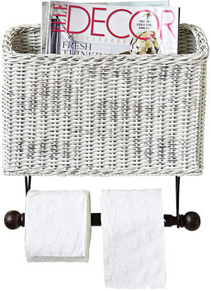 3R Studio Wicker Wall Magazine & Toilet Paper Holder
