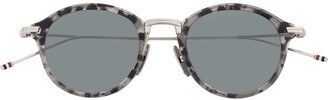 Thom Browne Eyewear Grey Tortoise Sunglasses