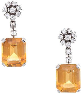 One Kings Lane Vintage JE Caldwell Citrine & Diamond Earrings - Precious & Rare Pieces