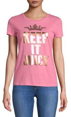 Juicy Couture Keep It Juicy Cotton Tee