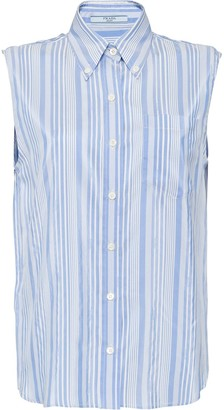 Prada sleeveless striped blouse