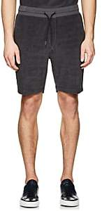 Theory MEN'S ESSENTIAL COTTON TERRY SWEATSHORTS - CHARCOAL SIZE L