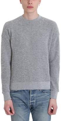 John Elliott Grey Wool Tactile Boucl? Crew Knit