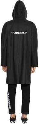 Off-White Heavy Coated Nylon Raincoat