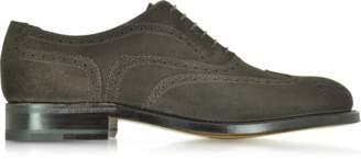 Moreschi Windsor Dark Brown Suede Goodyear Wingtip Oxford Shoe