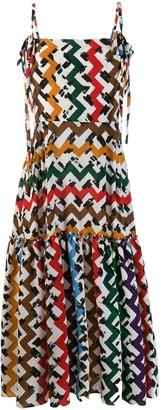 Lee Edeline zig zag print dress