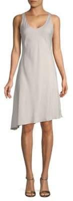Brunello Cucinelli Stretch-Silk Asymmetric Dress