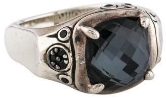 John Hardy Quartz Doublet & Black Sapphire Bamboo Ring