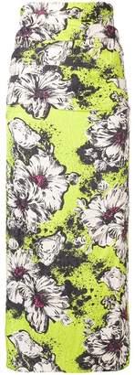Miu Miu floral print midi skirt
