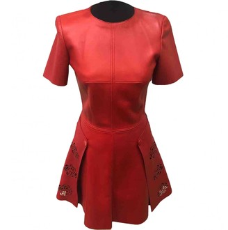 Alexander McQueen Red Leather Dresses