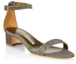 Manolo Blahnik Chaflahi Ankle-Strap Sandals