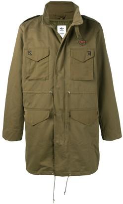 adidas X NEIGHBORHOOD patch pockets military coat