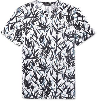 Theory Printed Slub Linen-Jersey T-Shirt