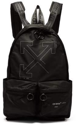 Off-White Off White Unfinished Logo Print Backpack - Mens - Black
