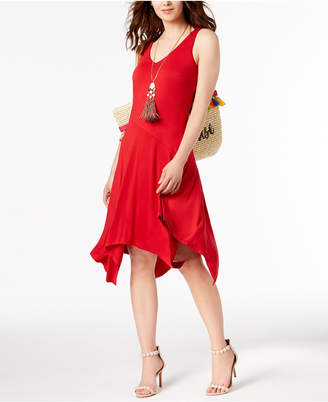INC International Concepts I.n.c. Sleeveless Knit Asymmetrical Hem Dress, Created for Macy's