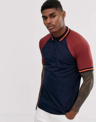 Asos Design DESIGN organic polo shirt with contrast tipping