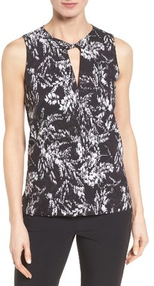 Women's Classiques Entier Twist Keyhole Print Shell $169 thestylecure.com