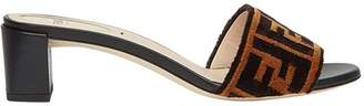Fendi Sabots fabric sandals