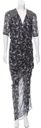 Veronica Beard Ruched Silk Dress