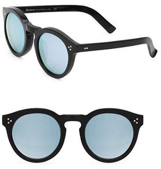 Illesteva Leonard 47mm Black And Silver Oxford Sunglasses